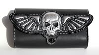 """Flying Skull"" custom fork toolbag"