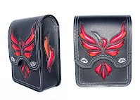 """Fire Hummingbird"" Sissy Bar Bag for Harley-Davidson Softail Slim 2013 motorcycle."