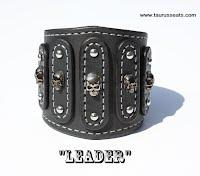 http://www.etsy.com/ca/listing/186481999/black-leather-bracelet-cuff-wristband
