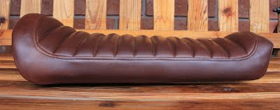 He Asked Us To Find Very Special Chocolate Brown Distressed Leather And Use The Faux Tuck Roll Method With Top Stitching For Cover